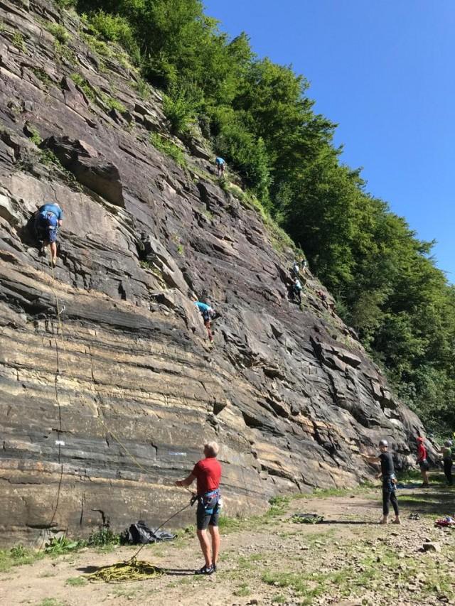 Single Pitch aan de rots