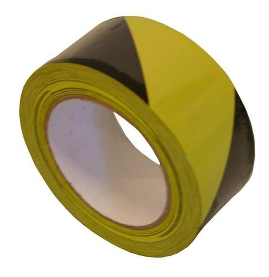 PVC signaaltape, geel/zwart